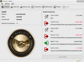 FairCoin Client Node Wallet